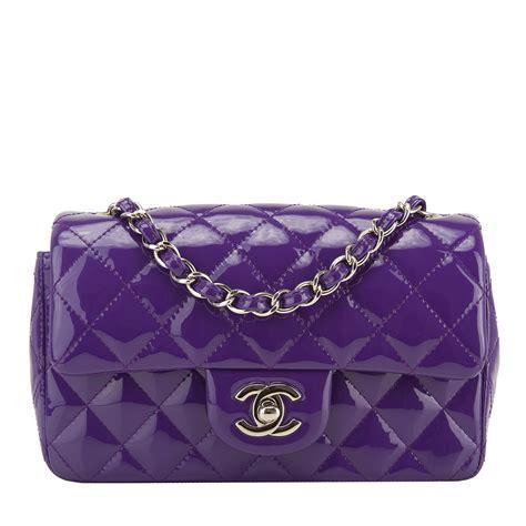 chanel purple patent leather rectangular mini classic flap bag worlds