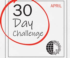 30 Day Challenge – April 2019 | Voice of the Martyrs