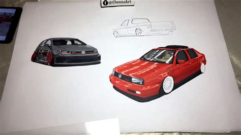 Drawing Time Lapse Vw Family R400, Jetta Vrt, Caddy