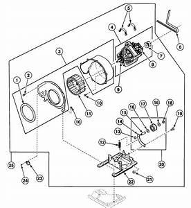 Motor Assy Diagram  U0026 Parts List For Model Sde107lf Speed