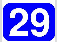 Blue Rounded Rectangle With Number 29 clip art Free Vector