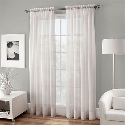buy crushed voile sheer   rod pocket window curtain