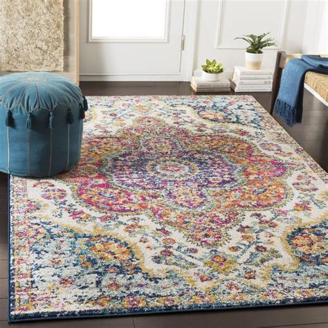 belmont oriental pinksaffron area rug   area rugs