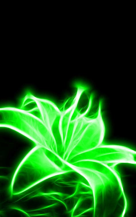 Glow Neon Aesthetic Wallpaper by Glowing Neon Green Flower I Might Get This For A