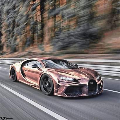 Bugatti Chiron Gold Super Sport Chrome Rose