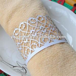 bulk wholesale metallic paper filigree elegant napkin ring With wedding napkin rings bulk