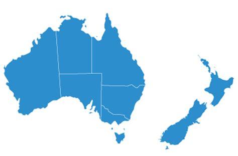 australia nz mappng