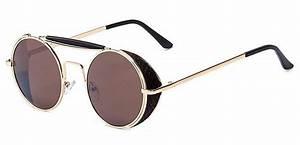 Runda solglasögon med sidoskydd