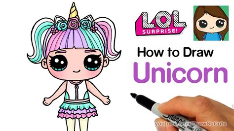 draw unicorn lol surprise doll cumseface