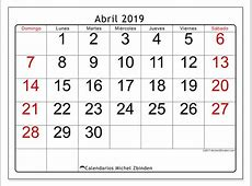 Calendarios abril 2019 DS Michel Zbinden ES