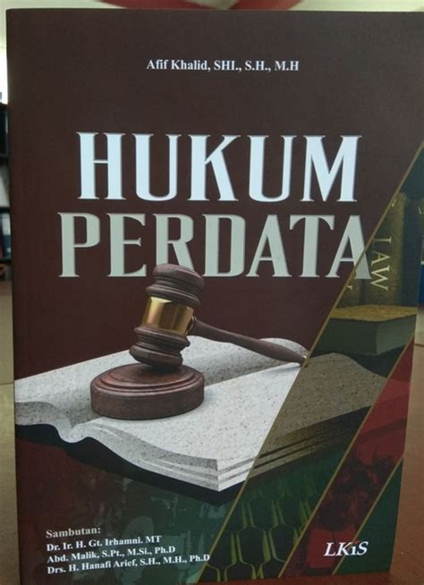 Buku Ajar Hukum Perdata buku hukum perdata afif khalid fakultas hukum uniska