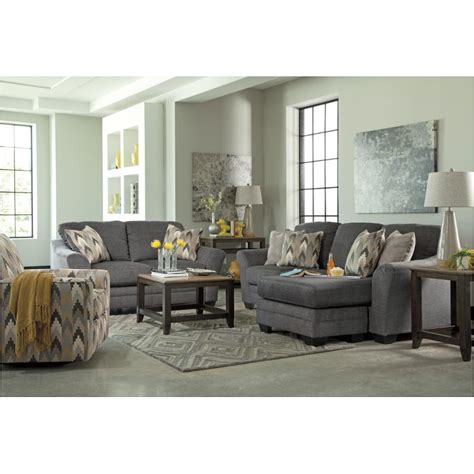 Charcoal Sofa Living Room by 8850218 Furniture Braxlin Charcoal Sofa Chaise