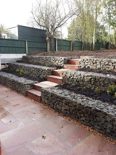 rock retaining wall cost low cost gabion stepped retaining walls cheaper than block stone gabion walls are easy to build