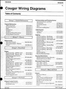 2001 Mercury Cougar Wiring Diagram Manual Original