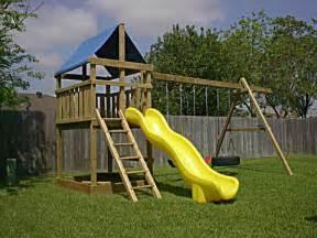 backyard playset plans triton playset diy wood fort and swingset add on plans 1448