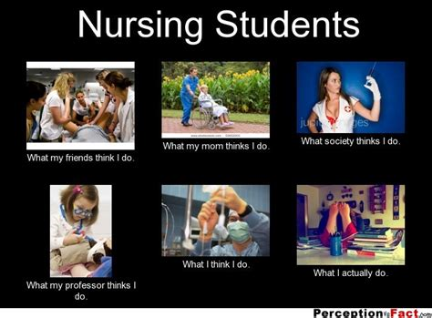 Nursing Student Meme - nursing students what people think i do what i really do perception vs fact
