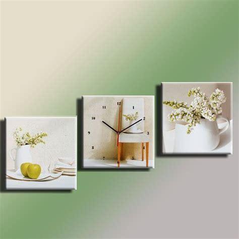 cadre pour cuisine cadres tableau cadre pendule tryptique lilas blanc 30