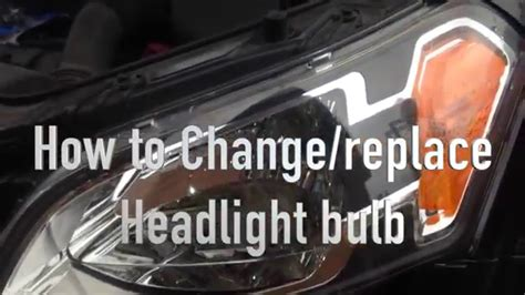 change replace headlight bulb  kia soul