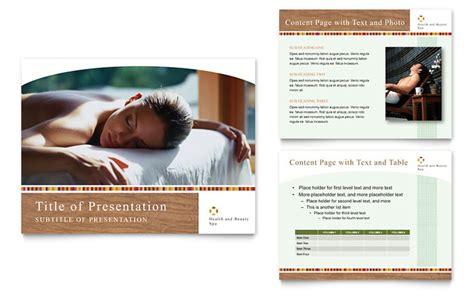health beauty spa powerpoint  template design