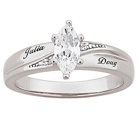 platinum plated sterling silver cz diamond wedding name