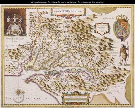 john smiths map  virginia hendrik  hondius