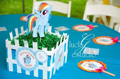 my little pony table my little pony birthday party ideas photo 4 of 10