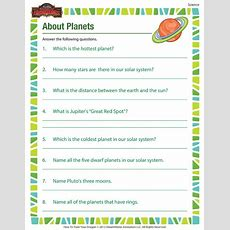 About Planets  Printable Science Worksheets For 5th Grade  Science  Pinterest Worksheets