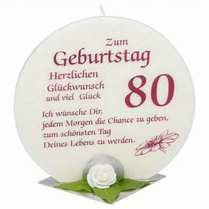 Besinnliches Zum 80 Geburtstag : jubil umskerze zum geburtstag 80 jahre mit spruch kerzen zum bestpr 19 00 ~ Frokenaadalensverden.com Haus und Dekorationen