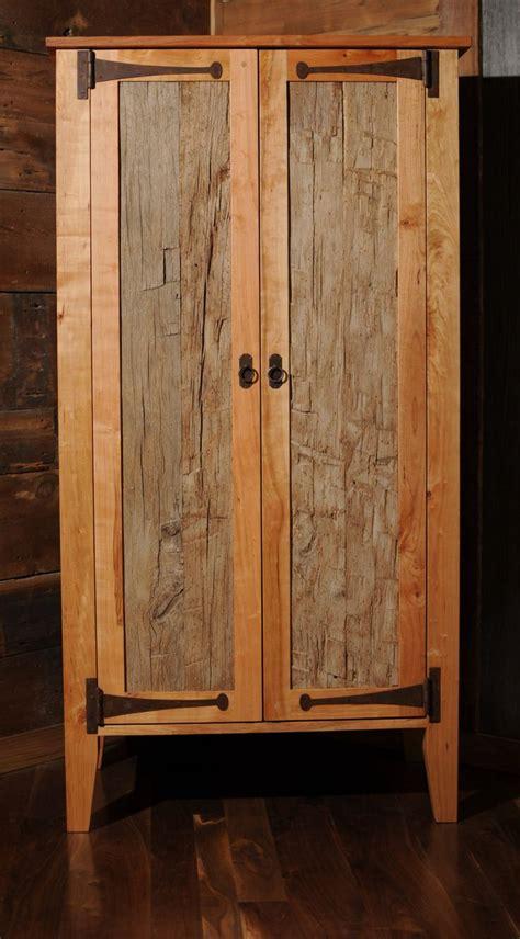 reclaimed wood armoire wardrobe closet etsy  images