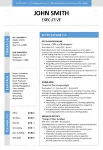 Executive Resume Word Format by 6 Executive Resume Templates Word Website
