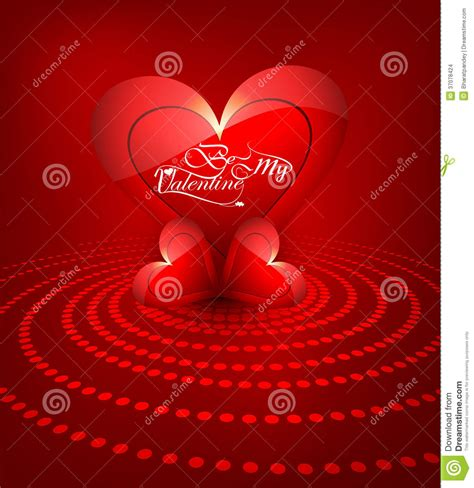 Heart For Beautiful Happy Valentine S Day Card Background ...