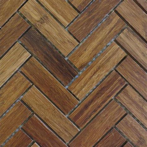 herringbone wood tile harvest bamboo mosaics eco friendly and sustainable natural wood mosaic tile in herringbone