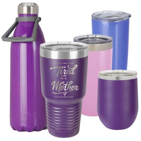 purple personalized insulated stainless steel tumbler metal wine glass tagged orange bulk