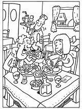 Restaurant Kleurplaat Coloring Kleurplaten Restaurants Colouring Google Pages Eet Ober Thema Zoeken Printable Template Pencil Food Eten Smakelijk Sheets Pixels sketch template