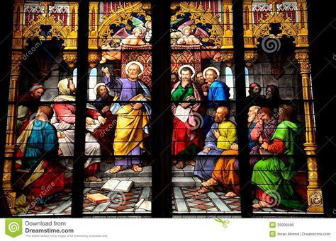 Fenster Und Tuerenkaufhaus In Koeln by St Stained Glass Artwork Stock Photo Image Of