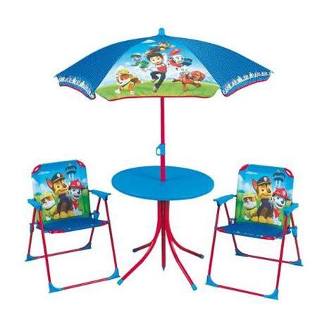 table et chaise de jardin carrefour pat patrouille table chaises et parasol pat 39 patrouille