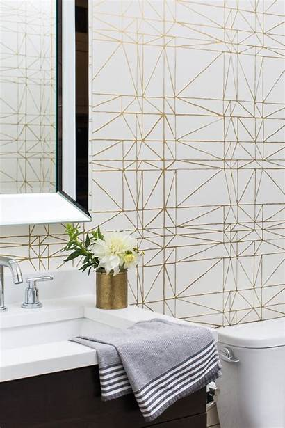Gold Powder Geometric Decorpad Centered Bathroom Centeredbydesign