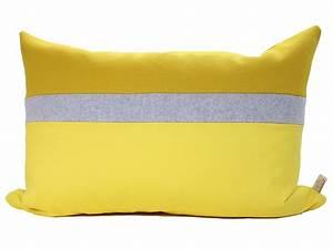 Coussin Gris Et Jaune : coussin jaune ~ Dailycaller-alerts.com Idées de Décoration