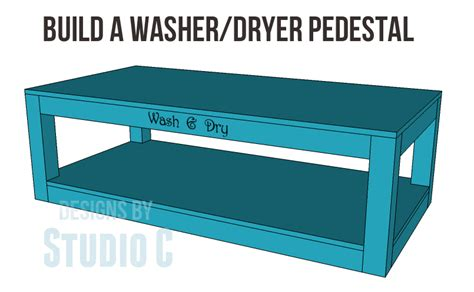 used front load washer and dryer free plans to build a pedestal for a washer and dryer