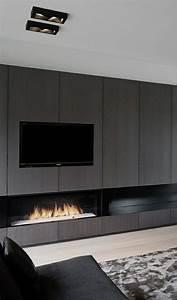 le meuble tele en 50 photos des idees inspirantes fire With lovely meuble 9 cases blanc 3 meuble tv haut blanc