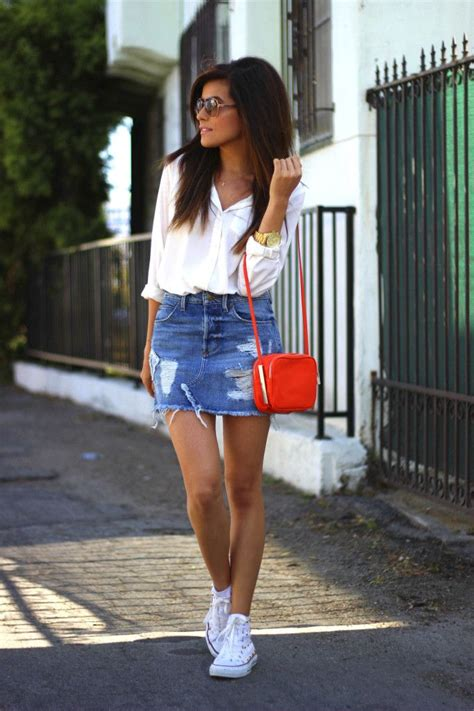25+ best ideas about Denim Mini Skirt on Pinterest | Jean skirt style Overalls and Holiday outfits