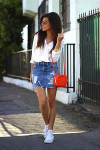 25+ best ideas about Jean Skirts on Pinterest | Jean skirt style Denim skirts and Short jean skirt
