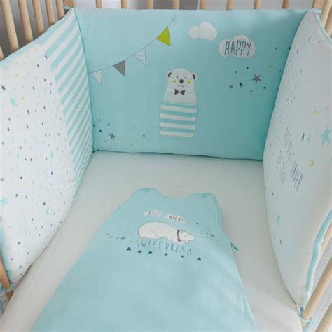 tour de lit bebe bleu tour de lit en velours moda