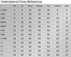 Uk Vs American Shoe Size Chart Uk U S And Europe Clothing Size Conversion Table