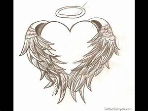 Angel Wing Heart Tattoo Design: Real Photo, Pictures ...
