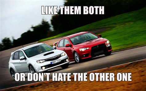 evo subaru meme the sti evo war is not common on ct but is on other sites