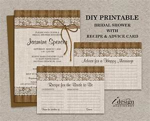 rustic burlap and lace bridal shower invitation with With diy wedding invitations advice