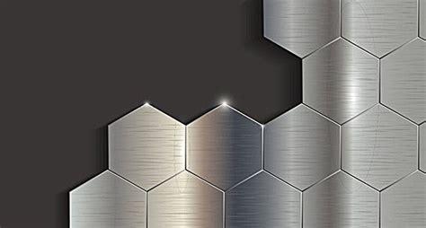 silver black metallic geometric hexagon background