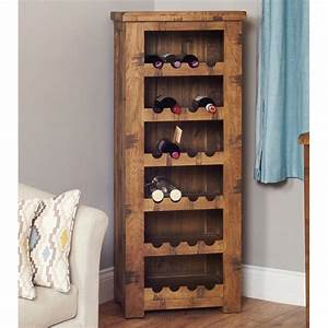 Mobel Light Oak Wine Rack Lamp Table Wooden Furniture