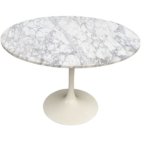 round marble table base mid century modern tulip base dining table with round